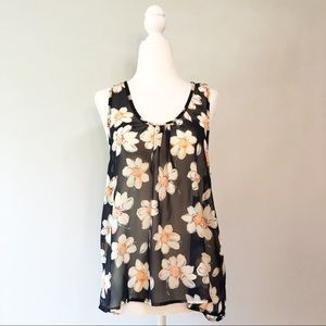 Papermoon for StitchFix Sheer Floral Tank Top
